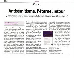 Compte rendu du numéro Antisémitisme(s) dans L'Histoire n°420 (février 2016)